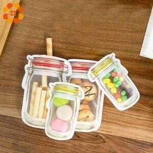 Image 2 - 5 ピース/ロット便利 pe 石工ボトルバッグナッツクッキーキャンディースナック密封されたビニール袋家の装飾収納用品