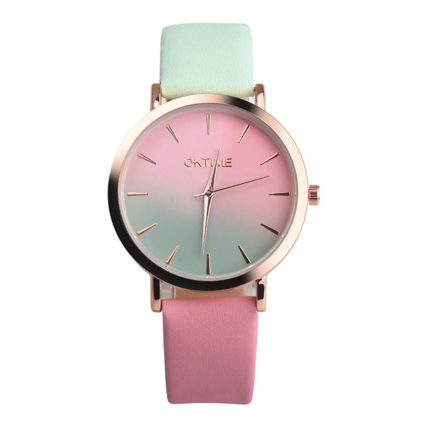Retro Rainbow Design Women Watch Leather Band Analog Alloy Quartz Wrist Watch reloj Mujer ladies Watch Relogio Feminino Vintage women watches superior women s retro rainbow design leather band analog alloy quartz wrist watch fashion relogio feminino feb13