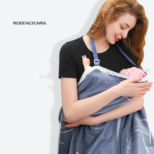 Breathable Breastfeeding Cover Cotton Muslin Breastfeeding Privacy Apron Outdoors Feeding Baby Shawl Nursing Cloth