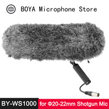 "BOYA BY-WS1000 Suspension Windshield for Φ20-22mm Professional Shotgun Microphone 320mm Length XLR Cable 1/4"" 3/8"" Thread Pouch(China)"