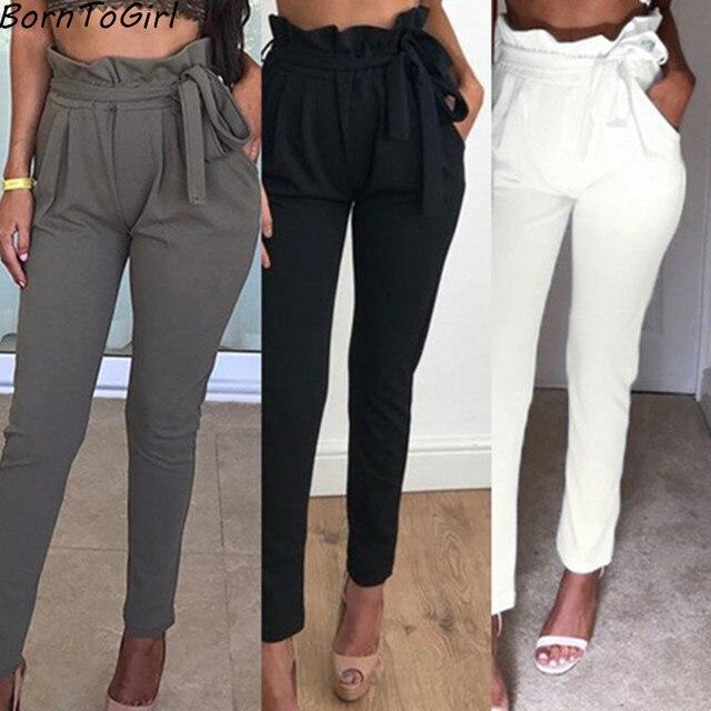BornToGirl Elástica Pantalones Casuales Para Mujer de ...