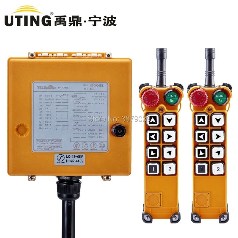 UTING CE FCC F26 A1 (2 передатчика + 1 приемник) Промышленное беспроводное радио с одной скоростью 8 клавиш кран пульт дистанционного управления для к