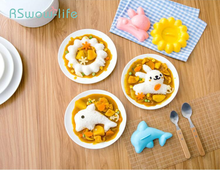 4pcs Rabbit Dolphins Rice Mold Cartoon Baby Ball mold Bento Sushi Kitchen DIY Set Home Tools