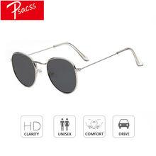 a8aba3fbb Psacss 2018 Mulheres Homens óculos de Sol Redondos Óculos Armação de Metal  Lente HD Óculos de Sol Masculinos do Sexo Feminino .