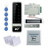 Diy rfid防水金属ドアアクセスコントロールシステムキットセット付き180キログラム電気磁気ロックで12ボルト電源でキー