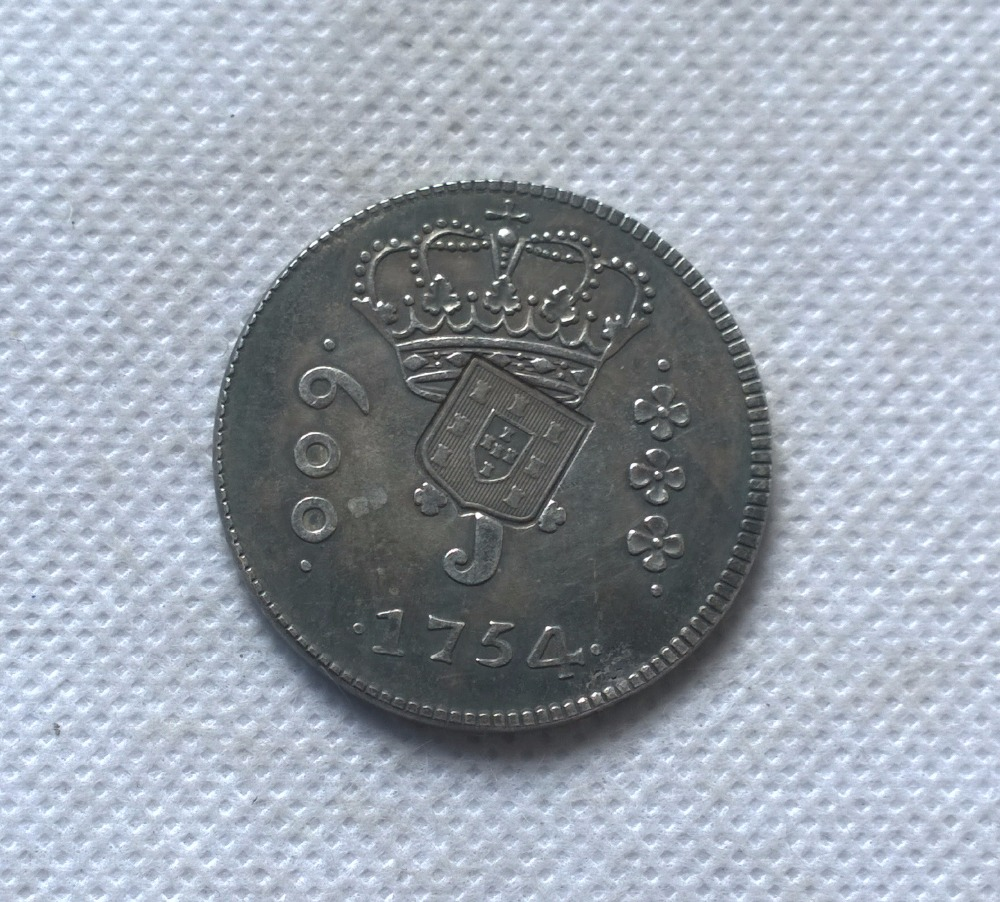 1754 Бразилия 640 Reis ND (1809) Монета КОПИЯ Бесплатная доставка