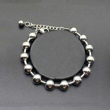 6 мм 8 мм 10 мм браслеты из нержавеющей стали для мужчин и женщин браслет с бусинами и браслеты модные маленькие аксессуары для влюбленных Pulseiras