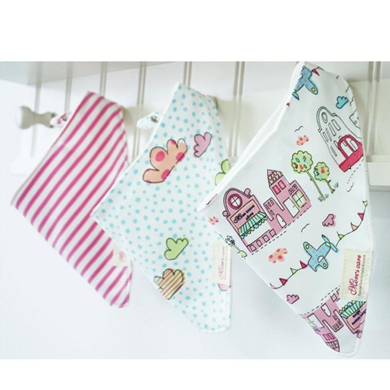 Clearance Försäljning 3pc / lot 100% Bomull Bandana Bibs Babador - Babykläder