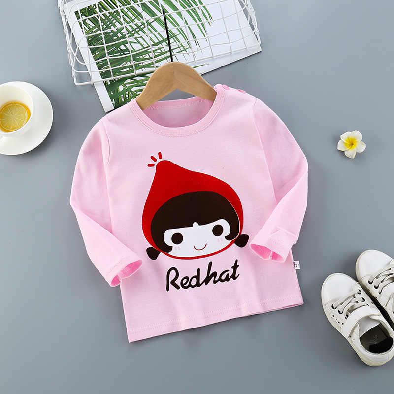Baby Meisjes T-Shirt Katoen Tops Tees Voor Jongen Cartoon Meisjes Print Kids Uitloper Kinderen Kleding Tops 2-6 Jaar jongens Kleding