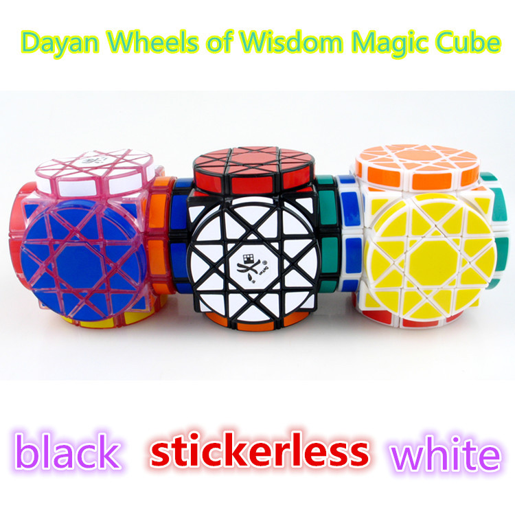 DaYan Wheels of Wisdom Magic Cube White And Black And Stickerless Learning&Educational Cubo magico Toys qiyi megaminx magic cube stickerless speed professional 12 sides puzzle cubo magico educational toys for children megamind