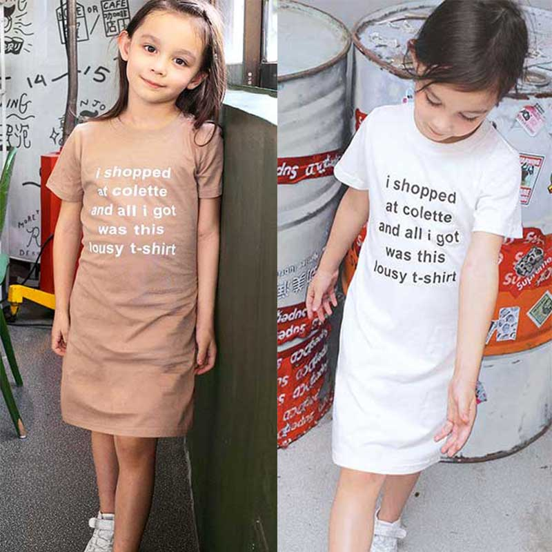 Retail new summer dress 2018 design girls children 39 s clothing European and American style kids baby girls short sleeved dresses in Dresses from Mother amp Kids