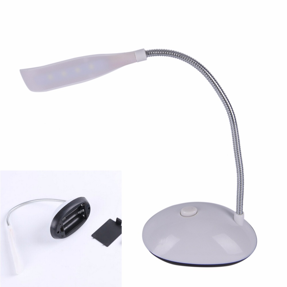 4 LED Reading Eye Protection Desk Lamp Adjustable Brightness Rechargeable Desk Table Lamp Light with Clip Touch Switch Portable usb rechargeable foldable touch dimming desk lamp 42 led 3 brightness adjustable eye protect ultra thin reading study lamp