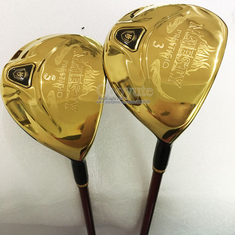 купить New Golf clubs Maruman Majesty Prestigio 9 Golf Fairway wood 3/15 5/18 Loft Graphite Golf shaft R or S wood clubs Free shipping по цене 6459.08 рублей