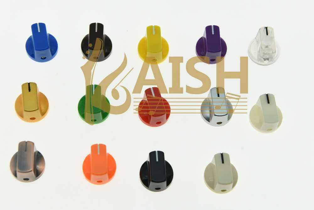 KAISH 10x Guitar AMP Effect Pedal Knobs Davies 1510 Style Pointer Knob Set Screw Various Colors