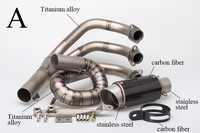 Motorcycle Full Exhaust System Sticker Muffler Contact Middle Link Pipe Titanium Alloy Slip On For YAMAHA MT 09 FZ 09 MT09 FZ09