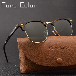 Image 1 - Glass lens Classic retro sunglasses men women acetate frame Luxury Brand design Sun glasses driving gafas Goggles oculos De Sol