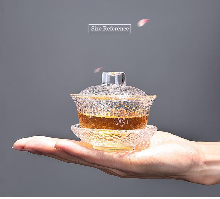 tigela eco-friendly portátil conjunto de chá bule de vidro chaleira 130ml
