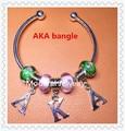 2017 America hot AKA Europe style bangle alpha hand make charm bracelet sorority fraternity decoration OGL019-1,1pcs