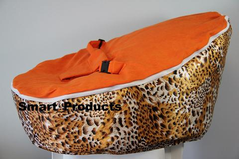orange baby bean bag/ baby bed bag/ baby sleeping bag -