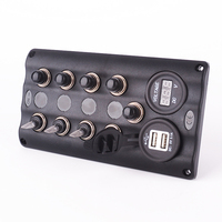 12v 24v 4 Gang LED Waterproof Marine Boat Toggle Switch Panel With 5 Breakers And USB