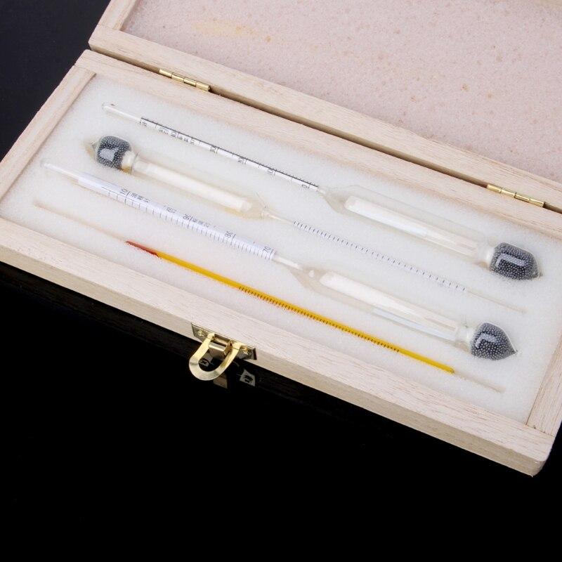 Alkohol Thermometer Hydrometer Set Für Wein Bier Mead Hause Brauen Tester Meter April