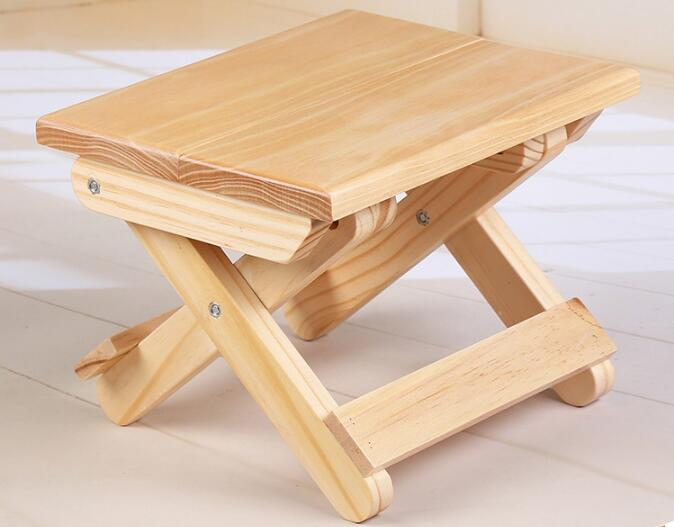 Wholesale Solid wood folding stool Portable household Footstool campstool bamboo bamboo portable folding stool have small bench wooden fishing outdoor folding stool campstool train