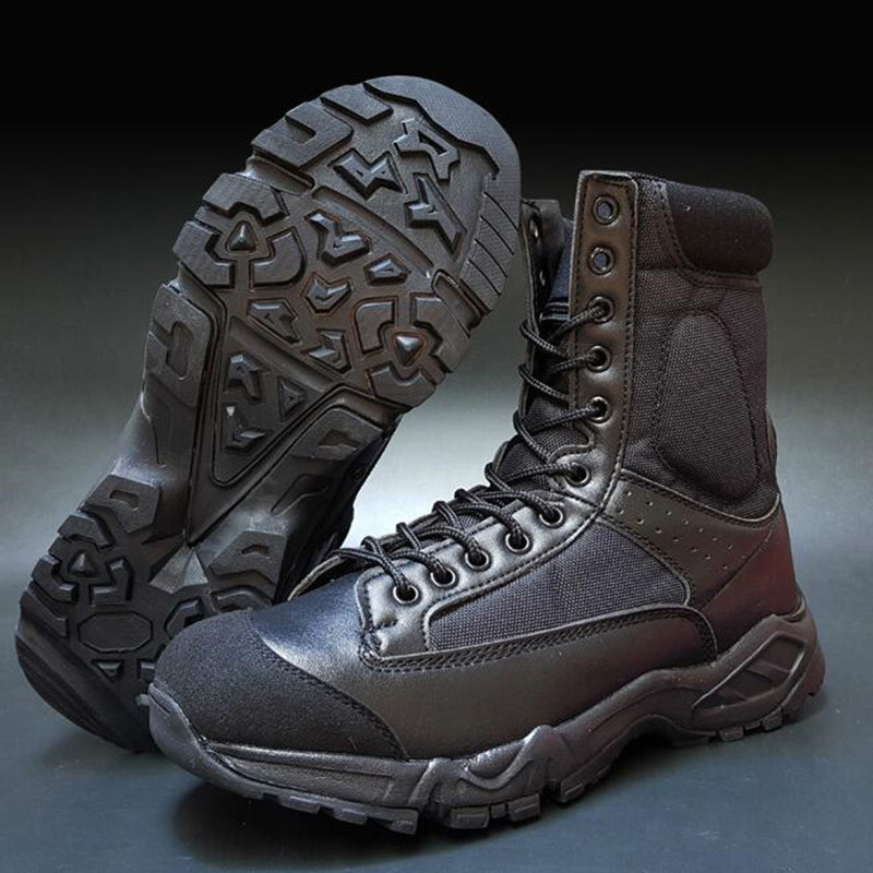 ФОТО Airborne Commando Boots Military Shoes Breathable Lightweight 07 Combat Boots Tactical Boots Genuine Leather Outdoor Boots
