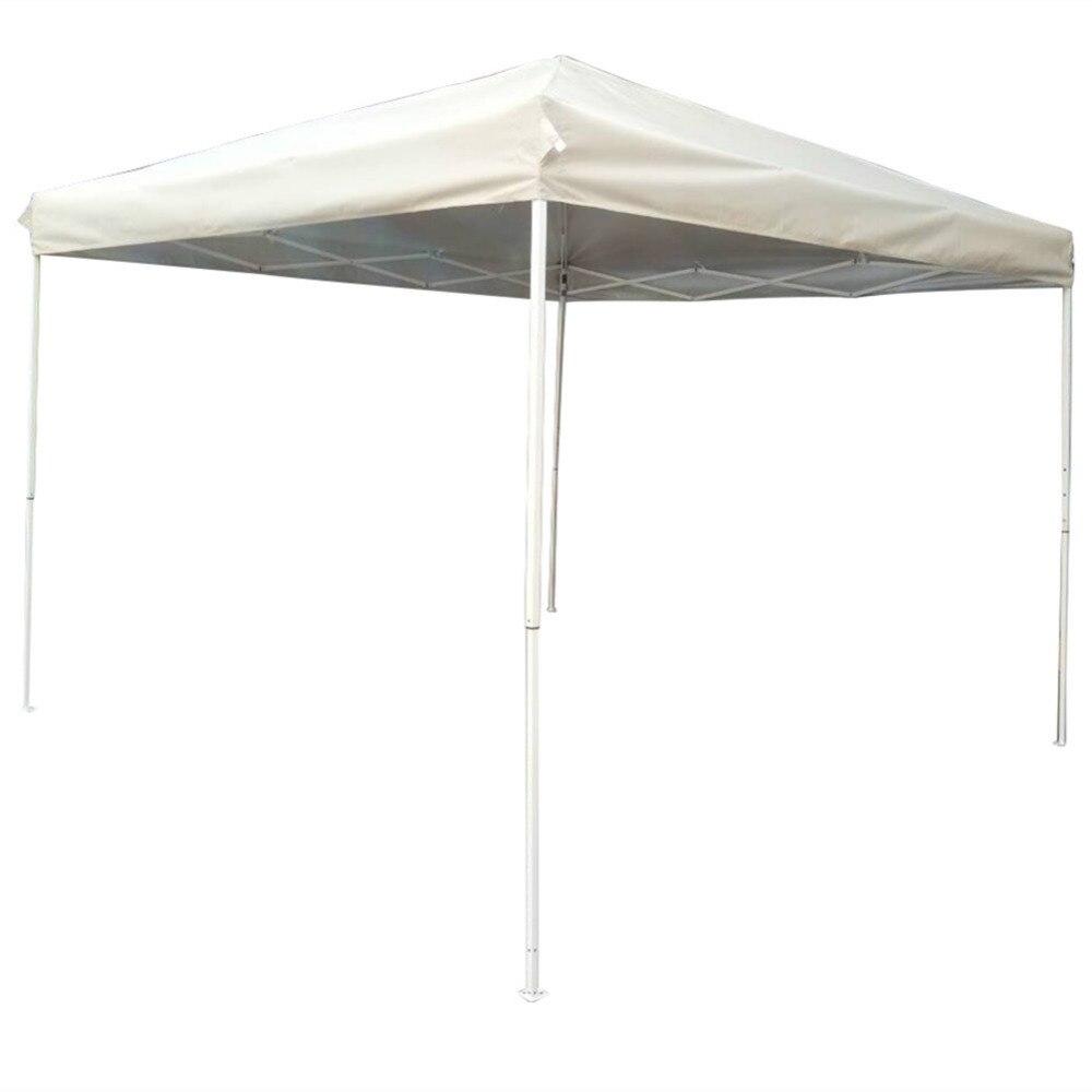 Outdoor Steel Frame Canopy : Naturefun feet outdoor steel frame pop up gazebo