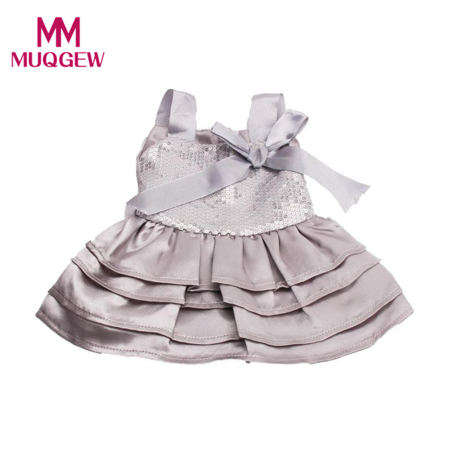 wholesale Cute Silver Dress Sequins Pretty Dress Fits Outfit For 18 Inch American Girl Doll 2018 New baby born doll accessories american girl doll clothes halloween witch dress cosplay costume for 16 18 inches doll alexander dress doll accessories x 68