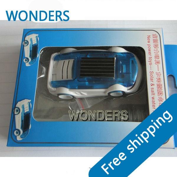 Solar car saline vehicle hybrid novelty children birthday gift toys
