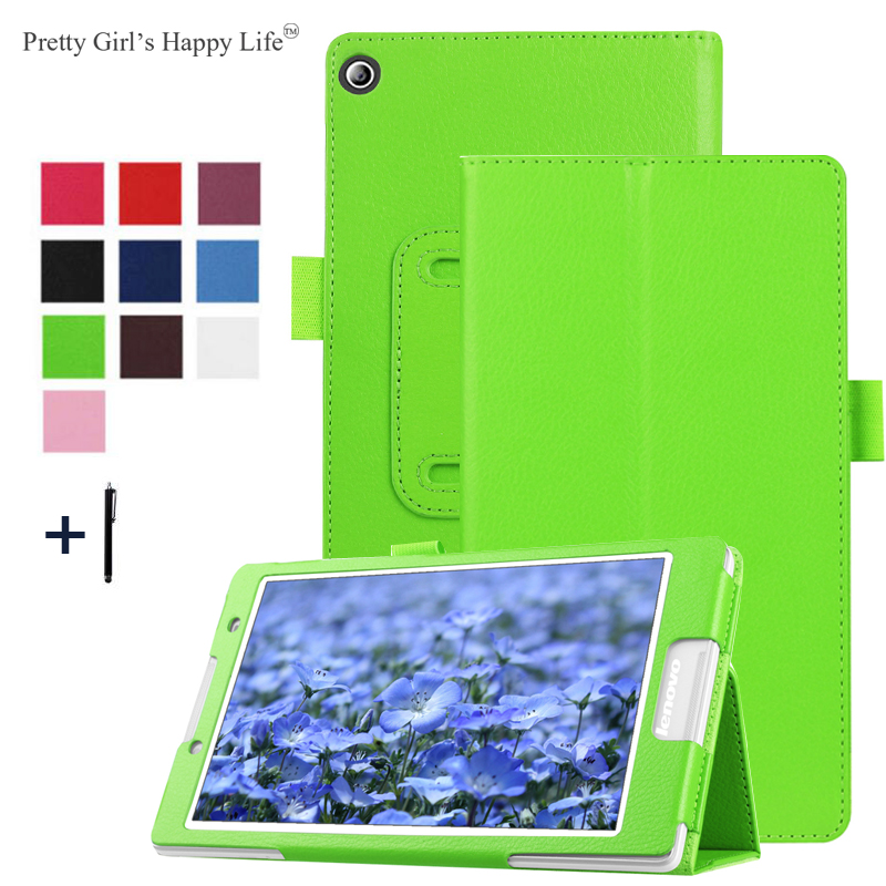 Pretty Girls Happy Life Case For 2016 Lenovo Tab 3 8.0'' TB3-850M Tablet Magnet Leather Cover Stand Protective Back Shell+Stylus планшет lenovo tab 3 tb3 850m 16gb 4g