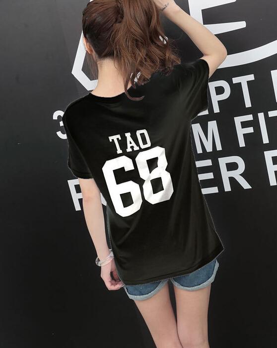 HTB1r gUKVXXXXa6XVXXq6xXFXXXv - Summer Exo Letter Print O-neck Short Sleeve O-neck tshirt