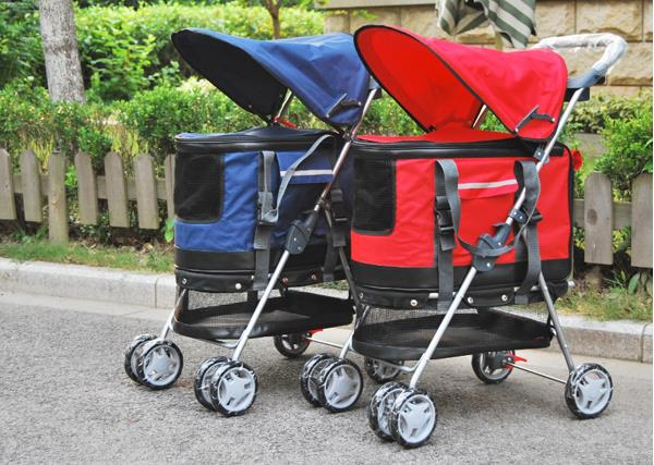 2016 New Pet Products Dog Seat Travel Accessories Pet Stroller 3 in 1 Multi function 4 wheels pet cart