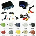 Car 4-sensor Parking Sensor With 3.5inch Monitor and 4-LED CCD Camera Rear View Reversing System #FD-2760