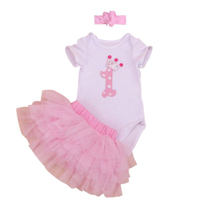 4398881dc 3PCs per Set Newborn Baby Girl First Birthday Tutu Dress with ...