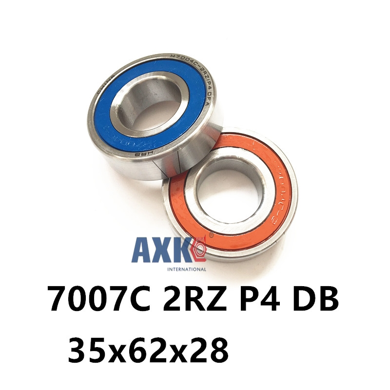 1 Pair AXK  7007 7007C 2RZ P4 DB 35x62x14 35x62x28 Sealed Angular Contact Bearings Speed Spindle Bearings CNC ABEC-7 7007 7007c 2rz hq1 p4 dt a 35x62x14 2 sealed angular contact bearings speed spindle bearings cnc abec 7 si3n4 ceramic ball