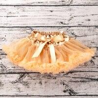 Золотая юбка для маленьких девочек, шифоновая юбка-пачка, блестящая вечерние принцессы для вечеринки, юбки-американки для новорожденных, шелковая балетная одежда, YK & Loving TS138