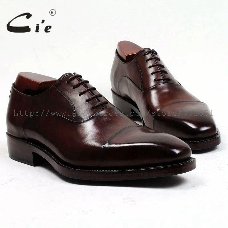 Мужские туфли-оксфорды ручной работы из натуральной кожи goodyear, Цвет Кофейный, коричневый, бесплатная доставка, No.OX484