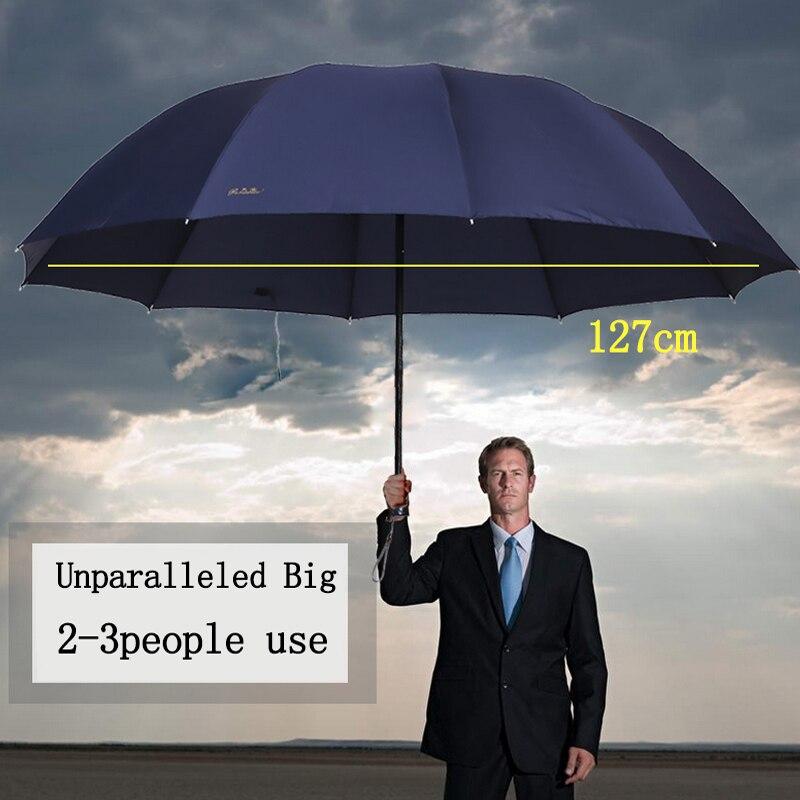 Easyzreal quality Men Windproof Umbrella Big Paraguas Male Women Sun Rain auto Red corporation Umbrellas Business Parapluie Gift