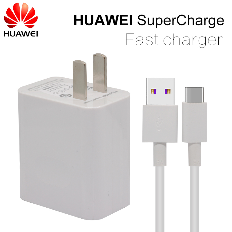HUAWEI P10 Plus Fast Charger for HuaWei Mate 9 10 Pro Supercharge Quick Travel Wall Adapter Type-C 3.0 USB Cable 1M Original