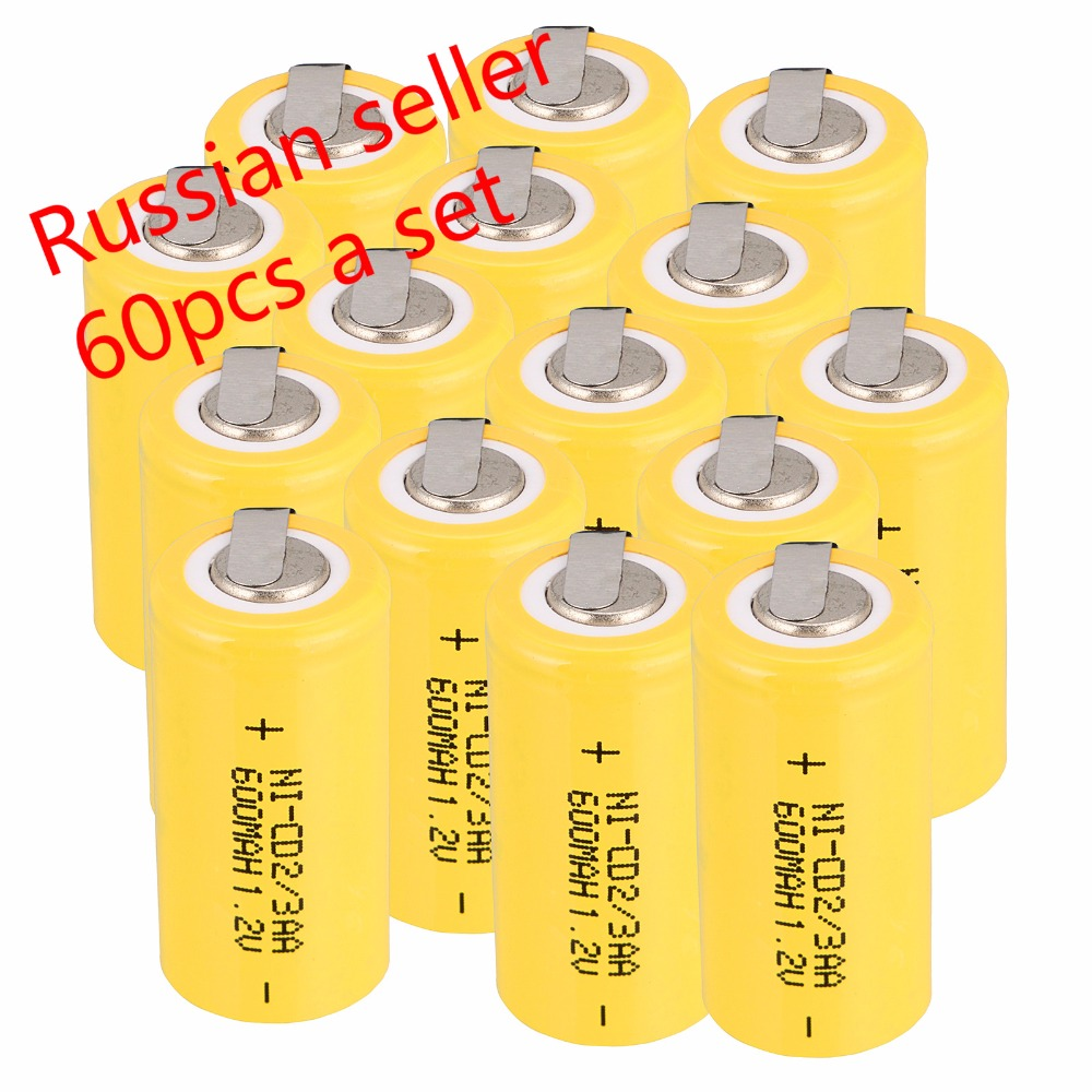 Russian seller lowest price 60 pcs 2 3AA Ni Cd 1 2V 2 3AA rechargeable battery