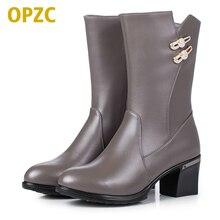 Plus size 35 43 female winter font b boots b font 2017 genuine leather font b