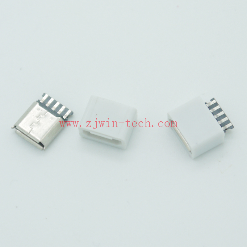 10pcs lot 5pin Micro USB Jack 2 0 Female USB Connector with case Welding function extension