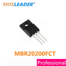 Mosleader DIP 100 adet MBR20200FCT TO220F MBR20200 MBR20200F Schottky çinde yapılan yüksek kaliteli