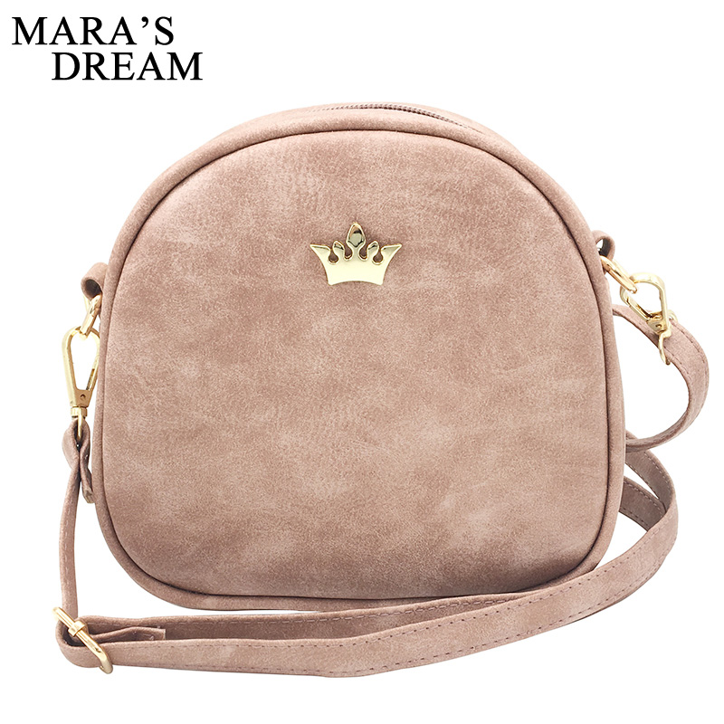 Mara s Dream 2018 Fashion Women Handbag Messenger Bags PU Leather Shoulder Bag  Lady Crossbody Mini Bag Female Crown Evening Bags c47944425925f