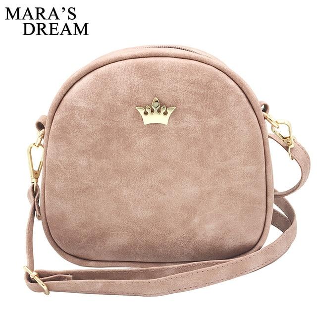 Mara s Dream 2018 Fashion Women Handbag Messenger Bags PU Leather Shoulder  Bag Lady Crossbody Mini Bag Female Crown Evening Bags 9a0e221e8c03e