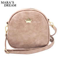 Mara's Dream 2019 Fashion Women Handbag Messenger Bags PU Leather Shoulder Bag Lady Crossbody Mini Bag Female Crown Evening Bags