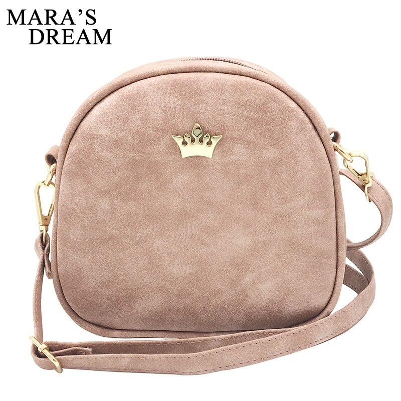 Maras Dream 2019 moda bolso de mano de mujer bolsos de mensajero de cuero PU bolso de hombro de señora bandolera Mini bolso femenino corona de noche bolsas