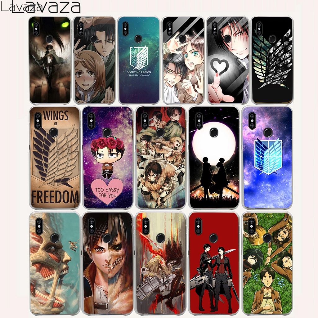 Lavaza 16O Attack On Titan Anime Hard Case for Xiaomi Mi A1 A2 Lite 8 SE 6X 6 5S Plus 5X 5 Cover