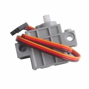 Image 3 - 2 Chiếc 270 Độ Có Thể Lập Trình Xám Geek Servor + 2 Đỏ Động Cơ Giảm Tốc Cho Micro: bit Robotbit Lego Xe Thông Minh Makecode MB0008